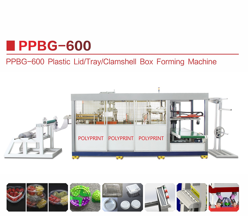 Hydraulic Plastic Pet/PVC/PS/PLA Thermoforming Machine Plastic Lid Fast Food Bowl Clamshell Tray Forming Machine