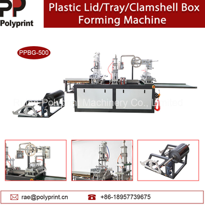 Plastic Clamshell Box Takeout Box Thermoforming Machine Portable Cup Lid Cup Cover Forming Making Machine