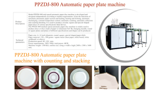 Automatic Disposable Paper Cake Plates/Dish Machine with Counting and Stacking