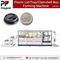 Automatic Vacuum Plastic Cup Lid/Cover Food Containers Jelly Cup Bowl Box Thermoforming Forming Making Machine