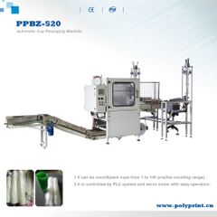 Automatic Single Line Disposable Plastic/Paper Cup Flow Packing Counting Stacking Machine