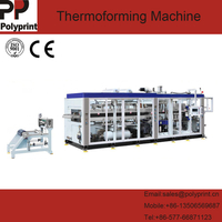 Plastic Lid Dish Thermoforming Making Machine with Automatic Stacking and Counting