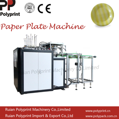 Automatic Disposable Paper Cake Plates/Dish Making Machine with Counting and Stacking