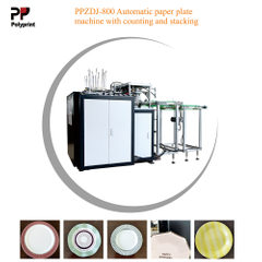 High Speed Disposable Eco-Friendly Snacks Fast Food Paper Plate Dish Forming Machine with Counting and Stacking