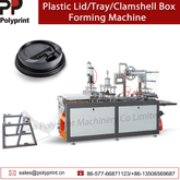 Automatic Plastic Coffee Cup Cover/Lid Tray Clamshell Thermoforming Machine