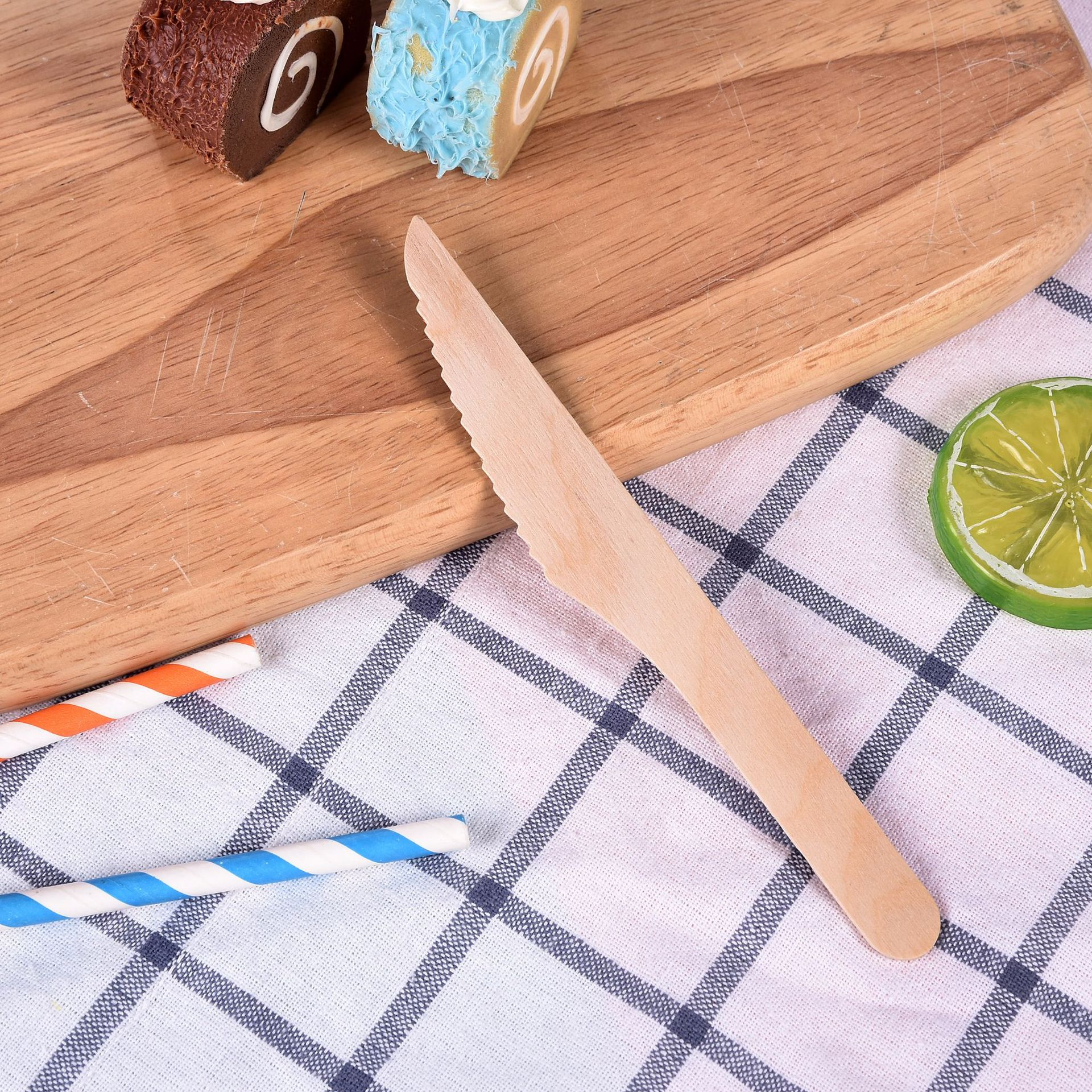 Compostable Disposable Flatware Wooden Knife Fork Spoon